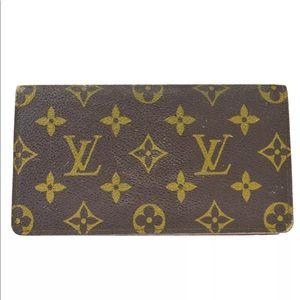 LOUIS VUITTON Long Wallet Purse Monogram Leather